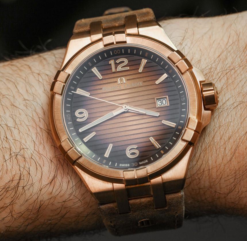 6d7fe1ef На ежегодной выставке Baselworld 2017 представлены часы ограниченного  выпуска Maurice LaCroix Aikon Bronze. Серия Aikon дебютировала в 2016 году,  ...